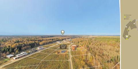 3D панорама коттеджного поселка